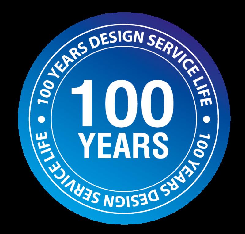 100 Years Working Life Blue Logo V2.0 01